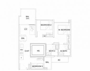 uptown-at-farrer-floorplan-3-bedroom-c1a